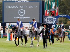 Team Valkenswaard United holte den Sieg bei der ersten Global Champions League Etappe in Mexico City. © Stefano Grasso / GCL