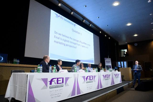 FEI Sports Forum 10/4/17 Morning Session Lausanne Photo FEI/Richard Juilliart