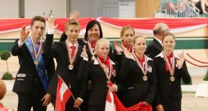 Die Junioren Gruppe der VG Club 43 (NÖ)konnte bei der HEIM EM 2013 eine der acht Medaillen für Österreich sichern. © Barny Thierolf