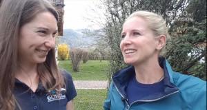 EQWOtv Reporterin Delphine im Interview mit Dressur-Ass Jessica von Bredow-Werndl © EQWO