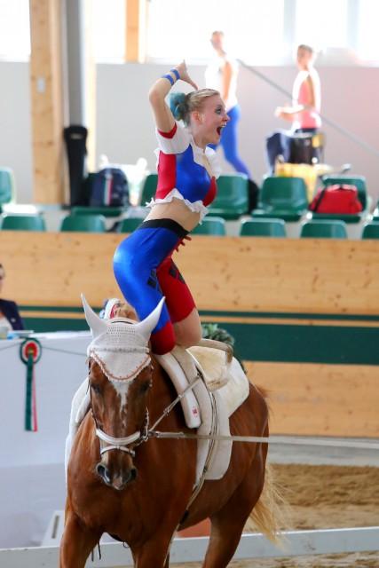 Platz drei ging ebenfalls an die VG Club 43 denn Lena Birkenau erturnte eine Gesamtnote von 7,292. © Andrea Fuchshumer