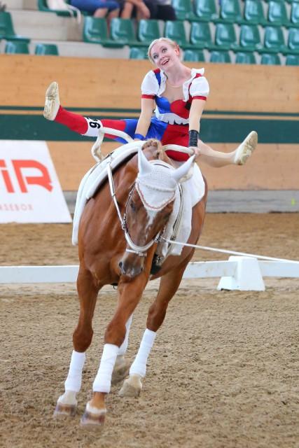 Rot-weiß-rot auch auf Platz drei bei den Junioren mit Lena Birkenau (VG Club 43/NÖ). © Andrea Fuchshumer