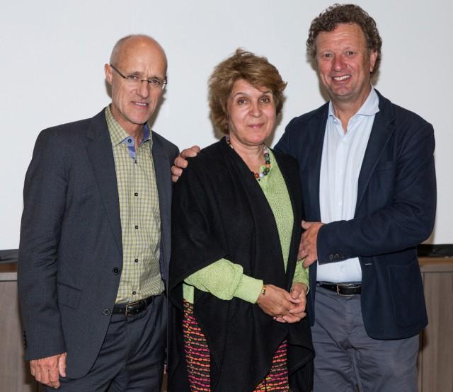Skisprunglegende Toni Innauer gemeinsam mit TPSV Präsident Klaus Haim und Ehefrau Evelyn Haim-Swarovski © Alessandra Sarti
