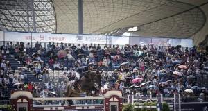 Max Kühner und Cornet Kalua auf dem Weg zu einer Top Platzierung in der Longines Global Champions Tour Shanghai. © facebook Czech Equestrian Team