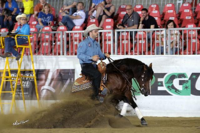 Gennaro Lendi und Spatatino sind an der Spitze der ersten Go Round im Derby Open. © Andrea Bonaga