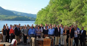 Chefs de Mission, FEI Discipline Directors, and members of the Organizing Committee enjoy an evening at the Lodge on Lake Lure in Lake Lure, NC. © TryonInternationalEquestrianCenter