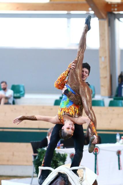 Die nach einer Ellbogenverletzung erst kürzlich wieder genesene Jasmin Lindner belegte mit Lukas Wacha (AUT/T) im Pas de deux den zweiten Rang (8,436). © Andrea Fuchshumer
