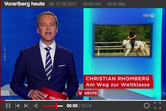 Mit Klick auf das Bild geht es zum ORF Beitrag über Christian Rhomberg.