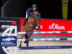 Quiwi Dream gewann unter Pia Reich 2016 das Weltfinale des European Youngster Cups bei der Mevisto Amadeus Horse Indoors. Nun kämpft er um sein Leben. © Michael Graf
