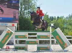 Top Ergebnis für Jessica Vonach (V) und Emily zum Auftakt der Junioren EM in Fontainebleau (FRA). © Archivbild Fotoagentur Dill
