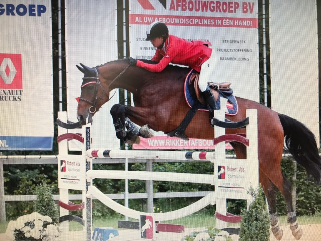 Great performance from Alpenspan Young rider Lena Binder and Lancelot at CSIOCh Wierden (NED). © Private