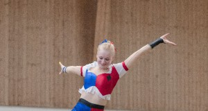 Lena Birkenau (Club 43/NÖ) hat sich ebenfalls ein WM Junioren Ticket erturnt heute. © Michael Graf