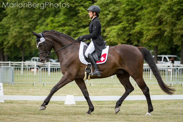 Esther Andres and Schwalbenprinz showed a great dressage performance in the CIC2*. © Marion Berg Photos