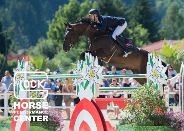 Im GLOCK's 5* Grand Prix lief es für Max Kühner (T) und Cornet Kalua im Stechen zwar nicht ganz rund, mit dem achten Platz kann der Wahl-Tiroler aber dennoch zufrieden sein. © Nini Schäbel