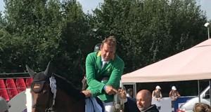Sieg für Alpenspan Reiter Gerfried Puck und Bionda 3 in der Diamond Tour über 1,45m in Olomouc. © Privat