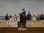 Dunit In Wranglers steers Melissa Wigen to the NRHA $2,000-Added Non Pro win. © 2017 NRHA