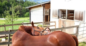 Stretching exercises keep your horse supple and strong © Adrienne Tomkinson