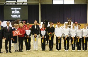 Nations Cup prize giving ceremony. © CHIO Aachen/ Michael Strauch