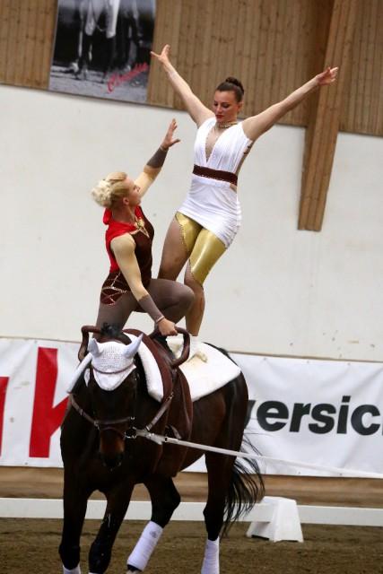 Ruth Konrader und Elisabeth Kuss sind im letzten Moment ins EM Team nachgerückt und werden Österreichs Farben beim Heim Championat im Pas de deux vertreten. © Andrea Fuchshumer