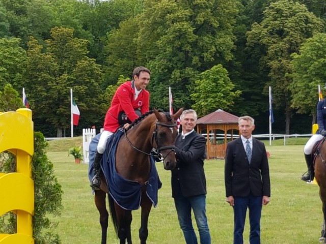 "Felix Vogg and Onfire galopped to rank one. With his second horse the Swiss rider got second in the CIC2* competition at the Horse Trials Wr. Neustadt. © <a href=""http://www.eqwo.net"" target=""_blank"">EQWO.net</a>"