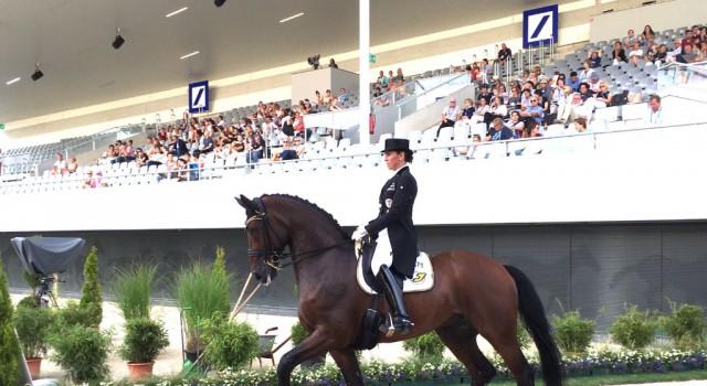 Top Leistung von Belinda Weinbauer und Söhnlein Brilliant MJ (im Bild in Aachen) beim German Masters in Stuttgart. © privat