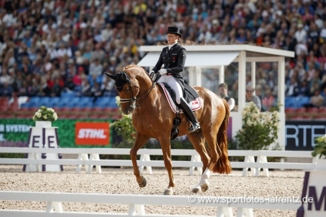 Nach Bronze im Grand Prix Special bei den Europameisterschaften in Göteborg (SWE) gab es auch im Grand Prix Freestyle Bronze für Cathrine Dufour (DEN) und Atterupgaards Cassidy. © Stefan Lafrentz