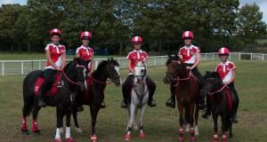 Das österreichische U14 Team bei der Mounted Games EM in Barth (GBR). © Martin Brandner