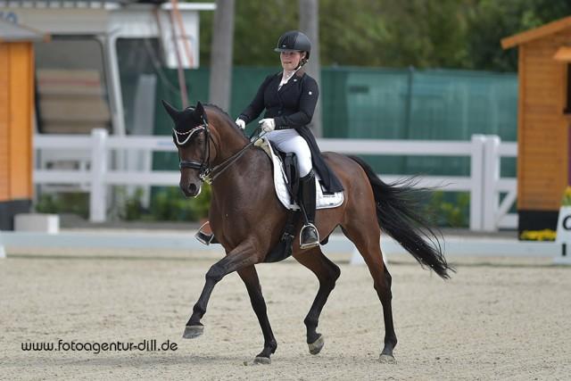 Daria Hohenwarter (AUT/T) und Lehmann 15. © Fotoagentur Dill