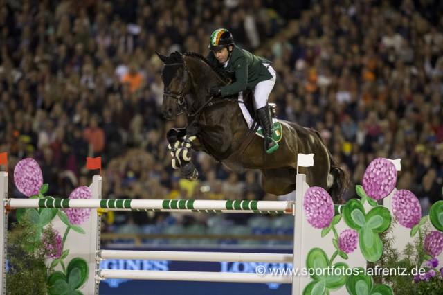 Irische Power und Coolness: Cian O'Connor und Good Luck im zweiten Teambewerb der Europameisterschaften in Göteborg (SWE) 2017. © Stefan Lafrentz