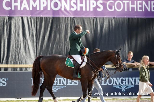 Am Ende war es Bronze bei den Europameisterschaften in Göteborg (SWE) 2017 für Cian O'Connor (IRL) und seinen grandiosen BWP Hengst Good Luck. © Stefan Lafrentz