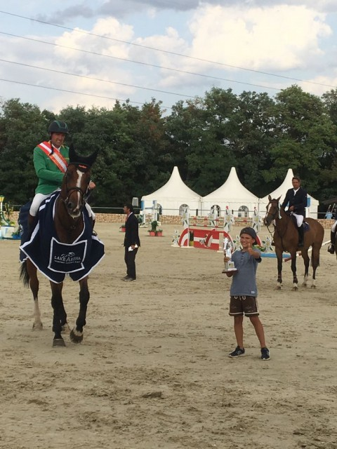 Gerfried`s son Tobi was very happy with the second big winners trophy at this weekend. © private