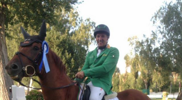 Alpenspan team rider Gerfried Puck (St) and Bo were successful in Bratislava. @ privat