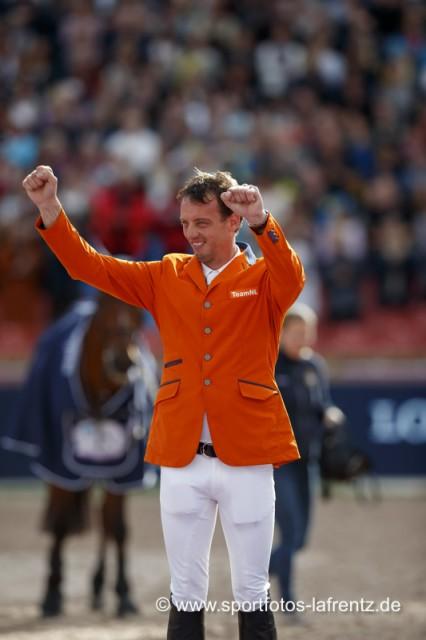 Happy! Harrie Smolders (NED) holte Silber bei den Europameisterschaften in Göteborg (SWE) 2017. © Stefan Lafrentz