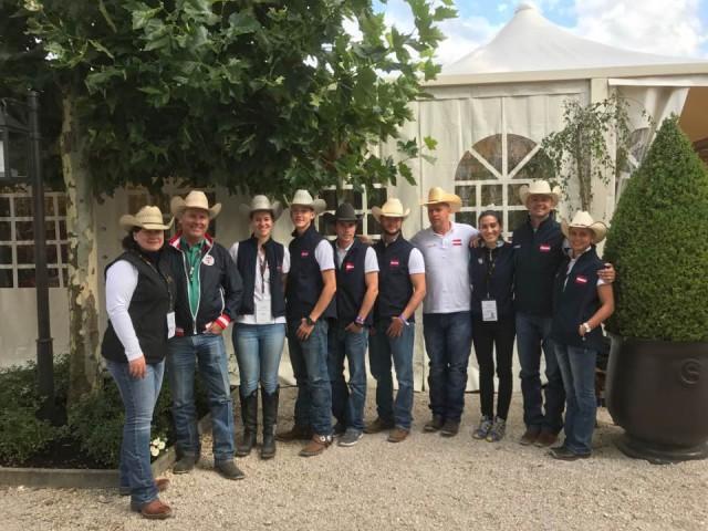 Team Austria - alle Reiter haben sich fürs Finale qualifziert - Rudi Kronsteiner verzichtet auf den Start. © Sabine Lisec