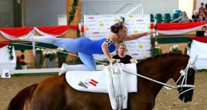 Seit gestern geht es in Ebreichsdorf um die Europameister- und Weltmeistertitel im Voltigieren. © Andrea Fuchshumer