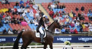 Top-15-Finale! Belinda Weinbauer (AUT) und Söhnlein Brillant MJ sind für das Kürfinale der Europameisterschaften Göteborg 2017 qualifiziert. © Pera Kerschbaum