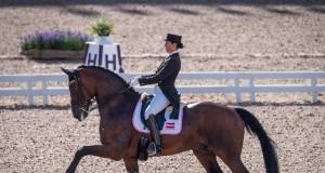 Ein super Grand Prix und der Einzug in die Top 30: für Belinda Weinbauer lief es heute auf Söhnlein Brillant MJ trotz kleiner Fehler nach Plan. © Arnd Bronkhorst