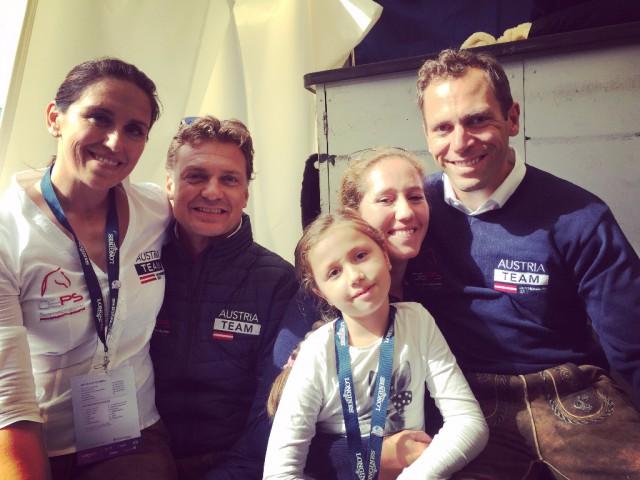 Happy in Göteborg! Belinda Weinbauer, Peter Gmoser, Stephanie Dearing und Christian Schumach mit ihrer Tochter Hanni. © EQWO.net - Ruth Büchlmann