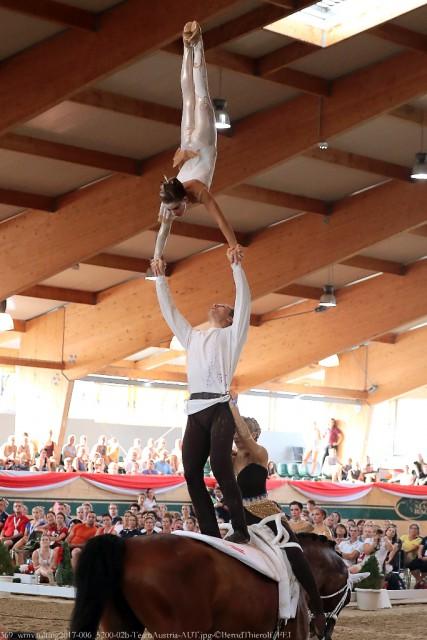 Die Wildegger Gruppenvoltigierer (NÖ) holten bei der EM in Ebreichsdorf die Bronzemedaille für Österreich. © Barny Thierolf