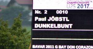 Kam, sah und siegte. Zwei Starts, zwei Siege für Paul Jöbstl (ST) in den Children Bewerben des CDI Lamprechtshausen 2017. © Fotoagentur Dill