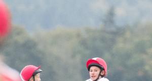 Viel Action bei den Mounted Games Meisterschaften: Lisa Kochan mit Ebony. © Patricia Koppenberger