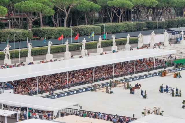 Die 14. von 15 Etappen der Longines Global Champions Tour und Global Champions League finden im Stadio dei Marmi in Rom statt. © Stefano Grasso / LGCT