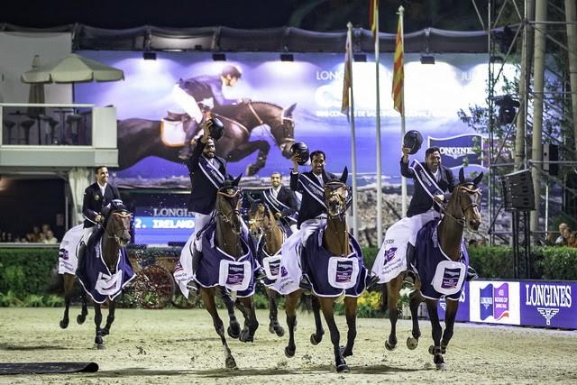 Überraschungssieg im FEI Challenge Cup in Barcelona für das Team aus den Vereinigten Arabischen Emiraten. © FEI / Libby Law Photography
