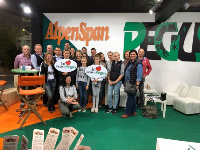 The Fieracavalli visitors from RFV Preding (ST) met at the Alpenspan-Pegus stand. © Private