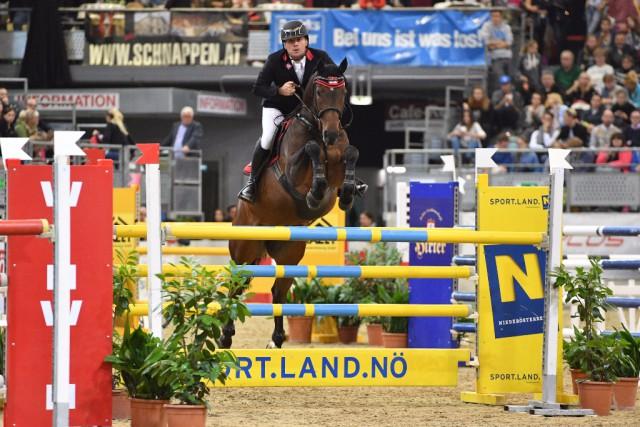 Sieg in der Großen Tour für Oberösterreichs Matthias Atzmüller (AUT/OÖ) und Samson B. © Horse Sports Photo