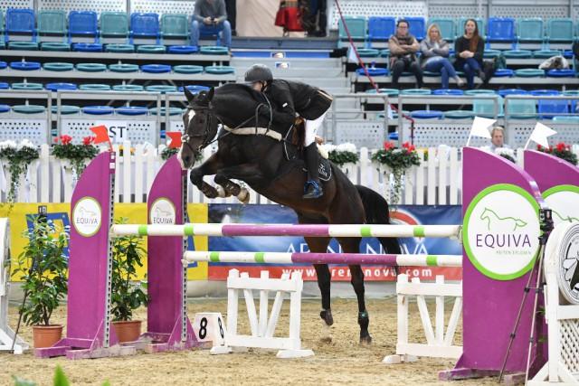 Der erst 13-jährige Niederösterreicher Noah Domaingo gewann die internationale VIP Tour beim 20. CSI Arena Nova in Wr. Neustadt. © Horse Sports Photo