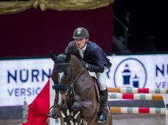 Tolle Leistung von Fixkraft-Reiter Stefan Eder und Celpik: Rang sechs im Silberpfeil Masters über 1,50 m auf der Amadeus Horse Indoors. © Michael Graf