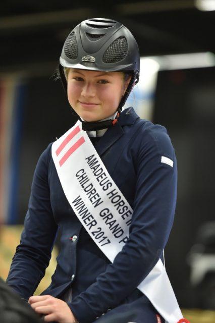 Die Sieger des Amadeus Children Grand Prix: Valerie Kroker (NÖ) und Cascala. © Fotoagentur Dill