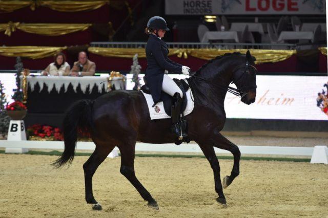 Chiara Pengg und Auheims's Feliciano wurden Zweite im Pferde von Auheim Dressage Cup. © Fotoagentur Dill