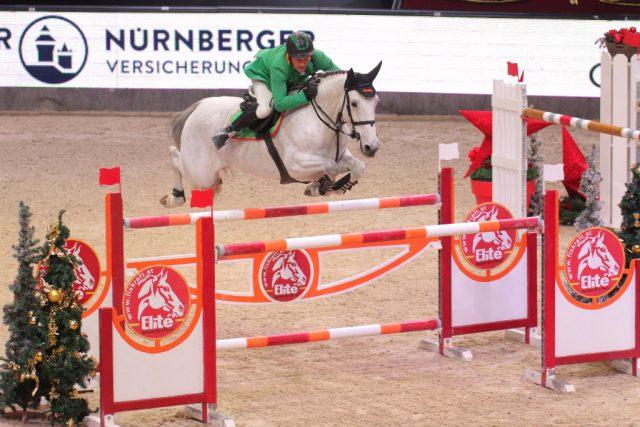 Gerfried Puck landete mit Bo als bester Österreicher im 4-Sterne Weltranglistenspringen vom Freitag (08.12.) auf Rang drei. © Fotoagentur Dill